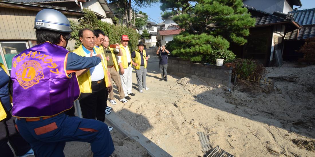アガワルLCIF理事長が西日本豪雨被災地を視察