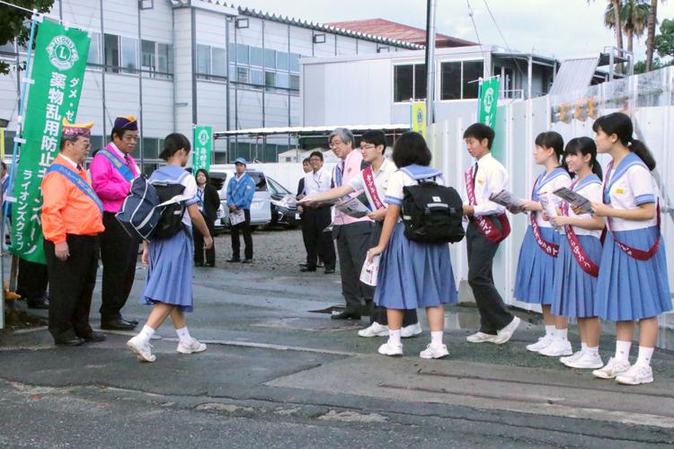 行政と共に熊本県下一斉 薬物乱用防止キャンペーン