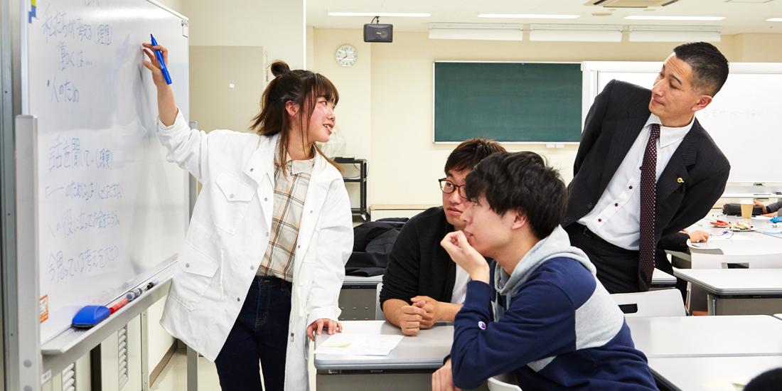 学生たちとの熱い議論 化学反応で地元に活力を