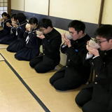 卒業前の中学生とお茶会を開催