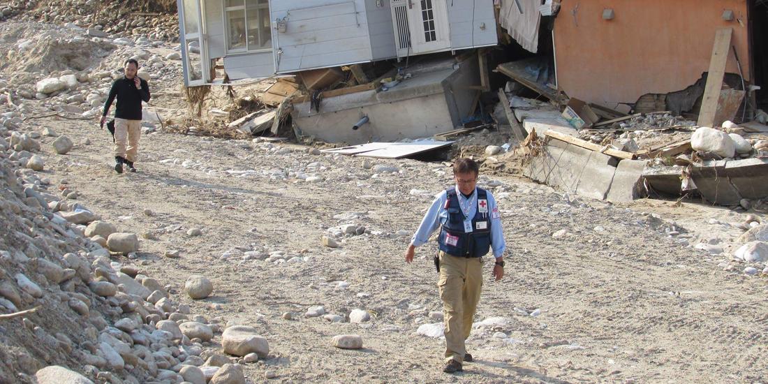 災害ボランティアの最前線に立って活躍する