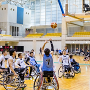 魚津でも知名度を上げたい。車椅子バスケットボール大会協力