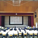 地元中学校で薬物乱用防止教室を実施