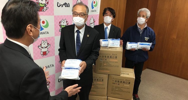 こんな時だからこそ動く! 市にマスク2万枚を寄贈