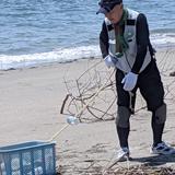 離島・浦戸桂島での海岸清掃活動