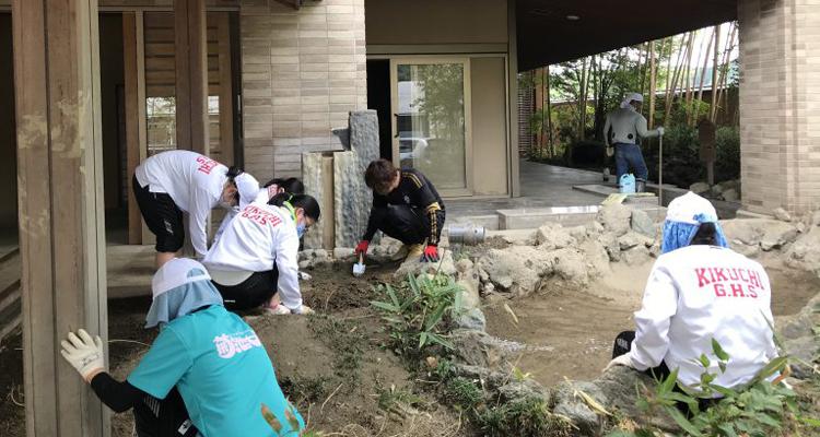 レオクラブの生徒たちが豪雨被災地支援