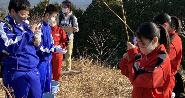 クラブが作った桜の名所にヨウコウザクラを植樹