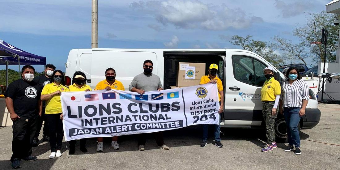 グアムの新型コロナ感染対策に支援物資を贈呈