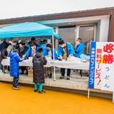 """正月少年サッカー大会で""""必勝うどん""""奉仕"""