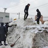 コロナ収束を願うイベント Wish for snow