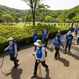 県民に歩く習慣を ウォーキング大会開催