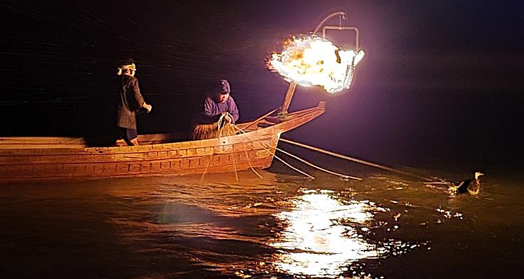 バリアフリー船で行く鵜飼観覧の夕べ